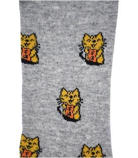 جوراب ساق دار بوم طرح گربه خاکستری