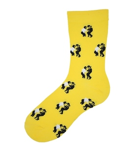 جوراب ساق دار بوم طرح پالپ فیکشن زرد