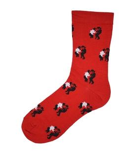 جوراب ساق دار بوم طرح پالپ فیکشن قرمز