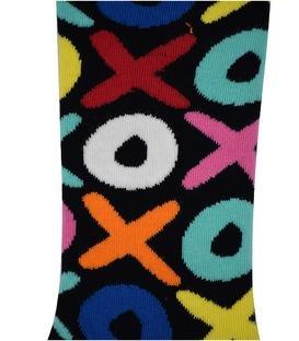 جوراب ساق دار هپی و مپی طرح XO مشکی