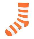 جوراب نانو ساق دار پاآرا طرح راه راه نارنجی سفید