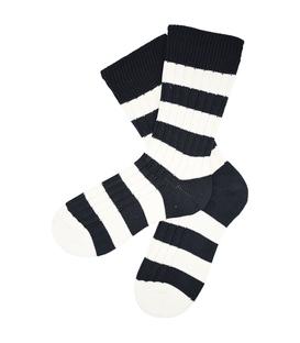 جوراب پشمی مردانه مشکی سفید