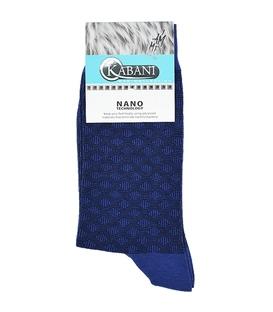 جوراب نانو ساق بلند Kabani طرح لوزی سرمهای