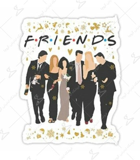 استیکر LooLoo طرح Friends سفید