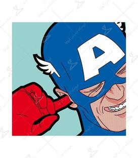 استیکر LooLoo طرح کاپیتان آمریکا