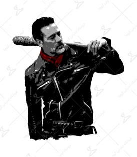 استیکر LooLoo طرح The Walking Dead - Negan