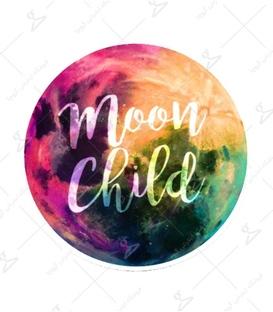 استیکر LooLoo طرح Moon Child