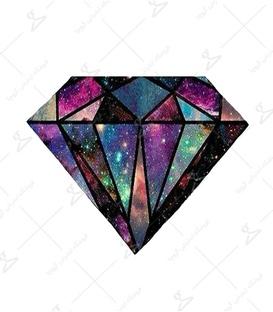 استیکر LooLoo طرح الماس کهکشانی