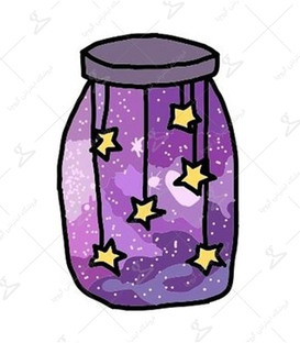 استیکر LooLoo طرح بطری کهکشان