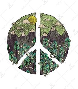 استیکر LooLoo طرح صلح سبز