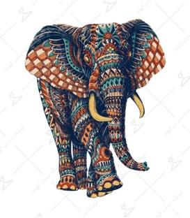 استیکر LooLoo طرح فیل رنگی