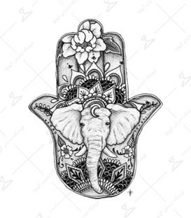 استیکر LooLoo طرح دست خمسه فیل