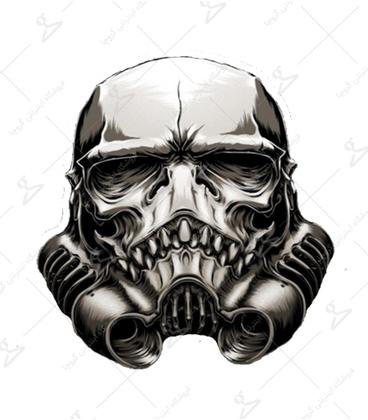 استیکر طرح Star wars خاکستری