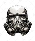 استیکر LooLoo طرح Star wars خاکستری