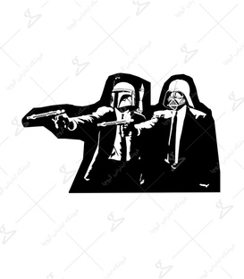 استیکر LooLoo طرح Star Wars and Pulp Fiction