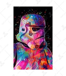 استیکر LooLoo طرح Clone Trooper رنگی