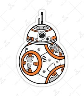استیکر LooLoo طرح BB-8 نارنجی