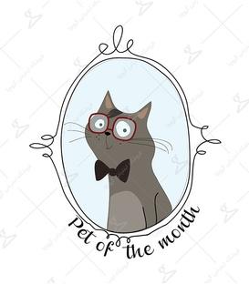 استیکر LooLoo طرح گربه جنتلمن