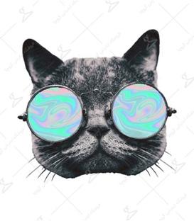 استیکر LooLoo طرح گربه عینکی