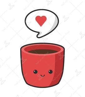 استیکر LooLoo طرح عشق قهوه