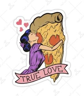 استیکر LooLoo طرح عشق پیتزا