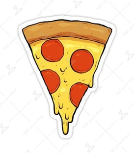 استیکر LooLoo طرح پیتزا زرد