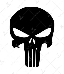 استیکر LooLoo طرح The Punisher