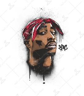 استیکر LooLoo طرح Tupac Shakur