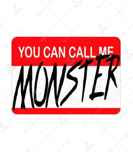 استیکر LooLoo طرح You can call me Monster