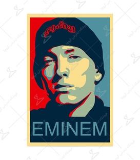 استیکر طرح Eminem رنگی