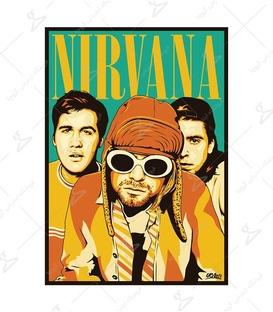 استیکر LooLoo طرح گروه Nirvana