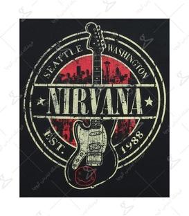استیکر LooLoo طرح Nirvana مشکی قرمز