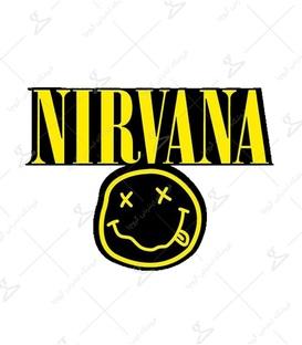 استیکر LooLoo طرح Nirvana مشکی زرد