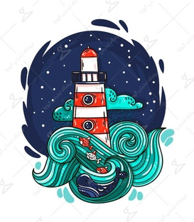 استیکر LooLoo طرح فانوس دریایی
