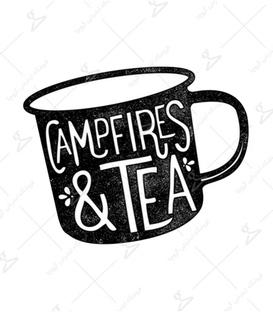 استیکر LooLoo طرح Campfires & Tea