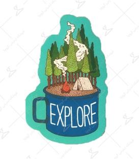 استیکر LooLoo طرح Explore سبز