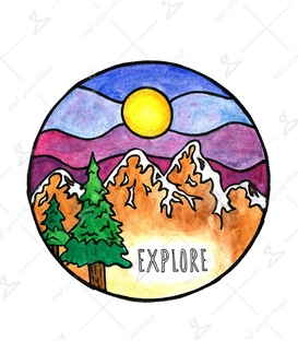 استیکر LooLoo طرح Explore