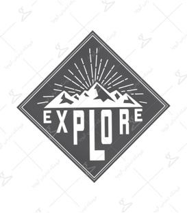 استیکر LooLoo طرح Explore مشکی