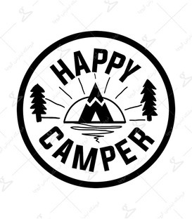 استیکر LooLoo طرح Happy Camper