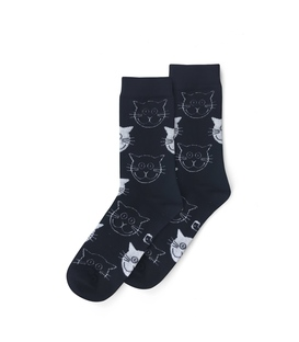 جوراب ساق دار نانو پاتریس طرح گربه مشکی