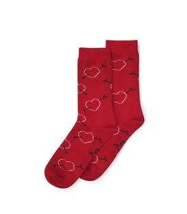 جوراب ساق دار نانو پاتریس طرح قلب و تیر