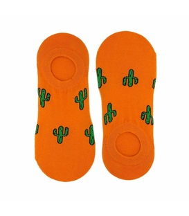 جوراب نیم کالج نانو پاتریس طرح کاکتوس نارنجی