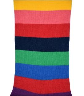 جوراب ساق دار هپی و مپی طرح راه راه رنگارنگ سرمهای