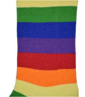 جوراب ساق دار هپی و مپی طرح راه راه رنگارنگ قرمز