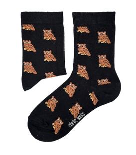 جوراب ساقدار Chetic چتیک طرح جغد مشکی
