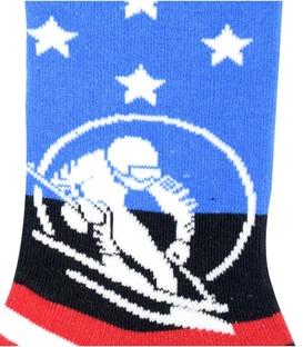 جوراب ساق دار Chetic طرح خط و ستاره اسکی باز