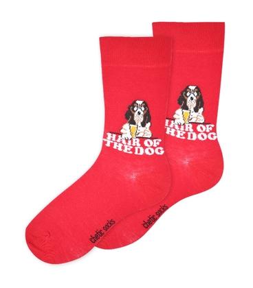 جوراب ساق دار Chetic طرح سگ قرمز