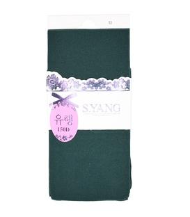 جوراب شلواری طرح ریز بافت سبز یشمی 150