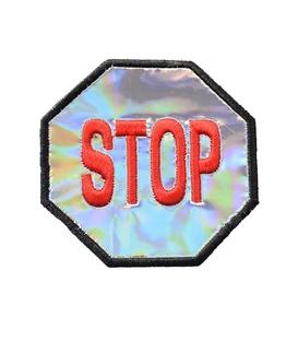 پچ حرارتی هولوگرامی طرح Stop