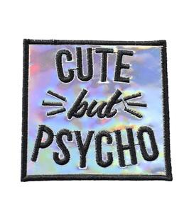 پچ حرارتی هولوگرامی طرح Cute But Psycho